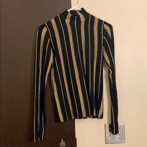Sparkle striped turtleneck